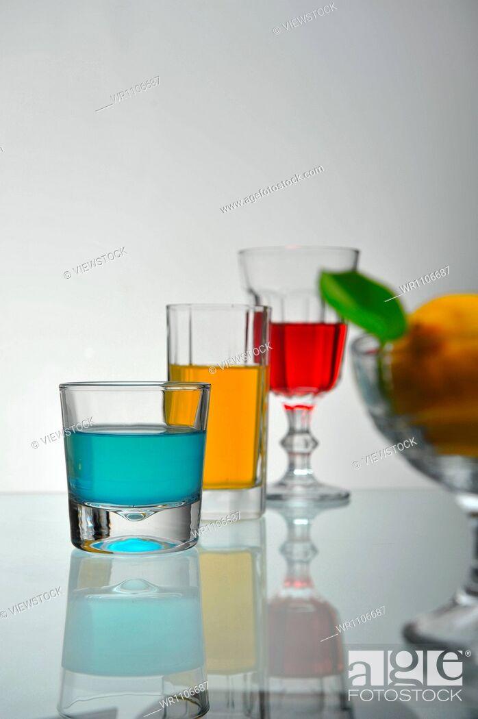 Stock Photo: Drinks.
