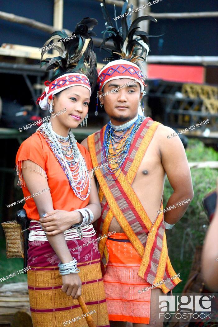 4264476e8 Stock Photo - Couple Wearing Traditional Dress Meghalaya India Asia Mr#786