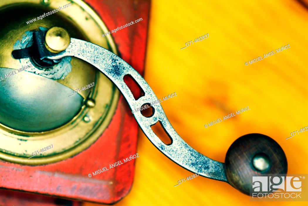 Stock Photo: Old coffee mill.