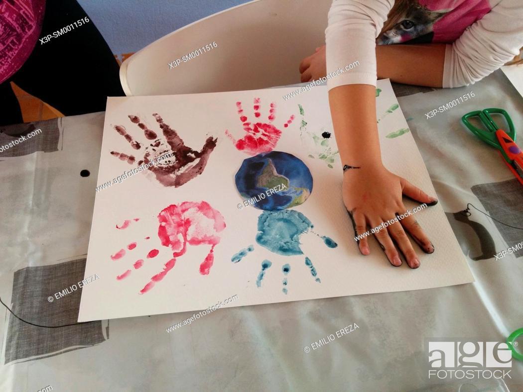 Imagen: Printing hands.