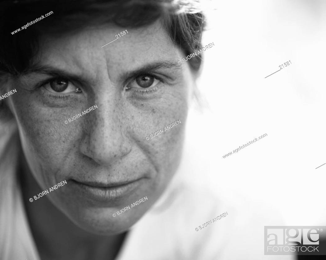 Stock Photo: Woman, close-up portrait.