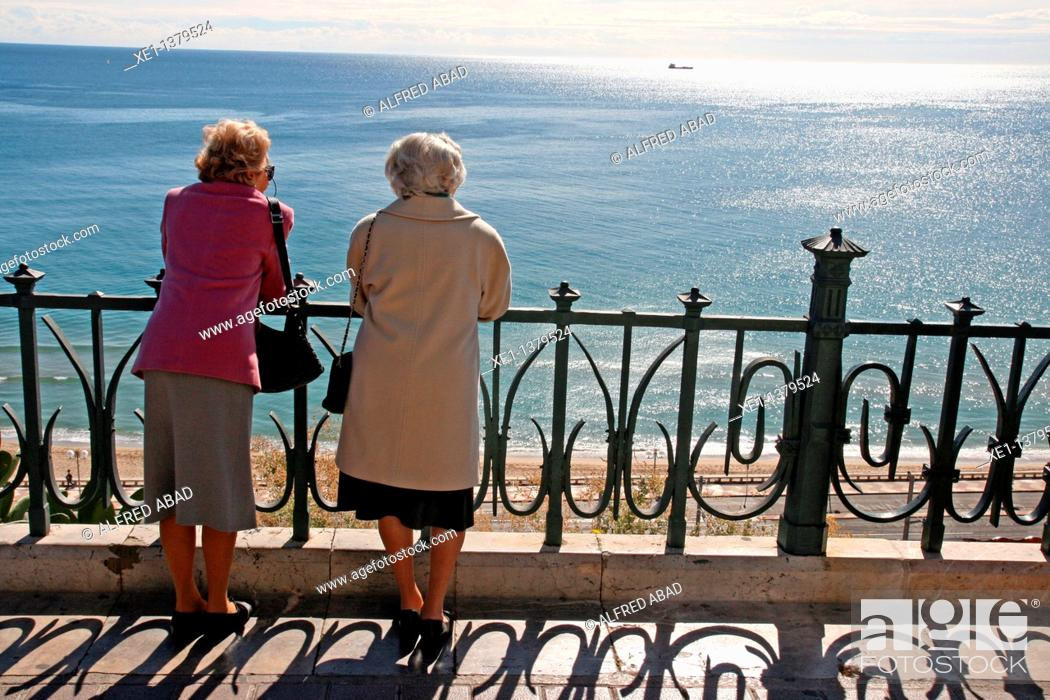 Stock Photo: Mirador del Mediterraneo, Tarragona, Catalonia, Spain.