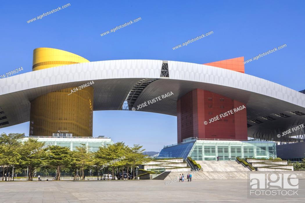 Stock Photo: China, Shenzhen City, Shenzhen Center, Civic Center Bldg. , Futian district.