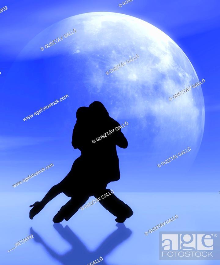 Stock Photo: Dancing in the moonlight.