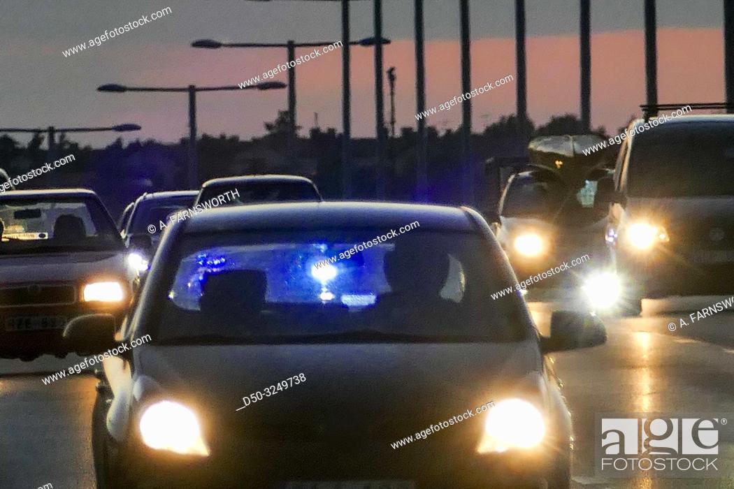Imagen: Stockholm, Sweden Traffic on the E-4 highway.