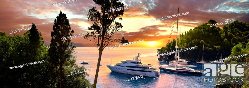 Stock Photo: Portofino - Liguarian harbour holiday resort.