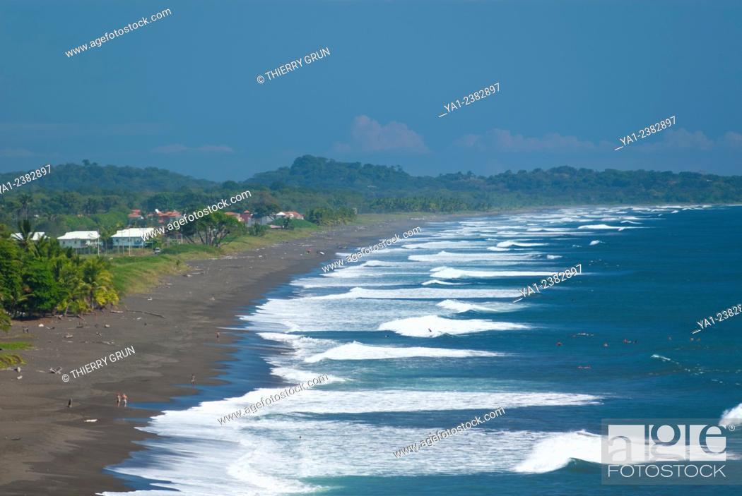 Stock Photo Costa Rica Pacific Coast Puntarenas Province Jaco Playa Hermosa Beach Central America