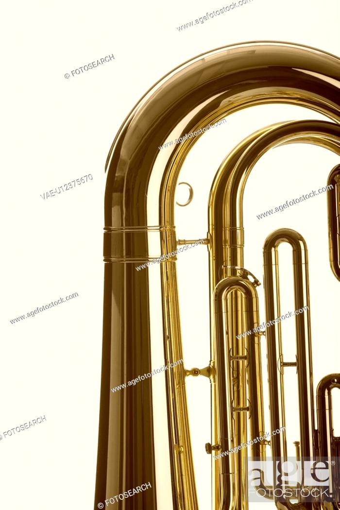 Stock Photo: Close-up of tuba.