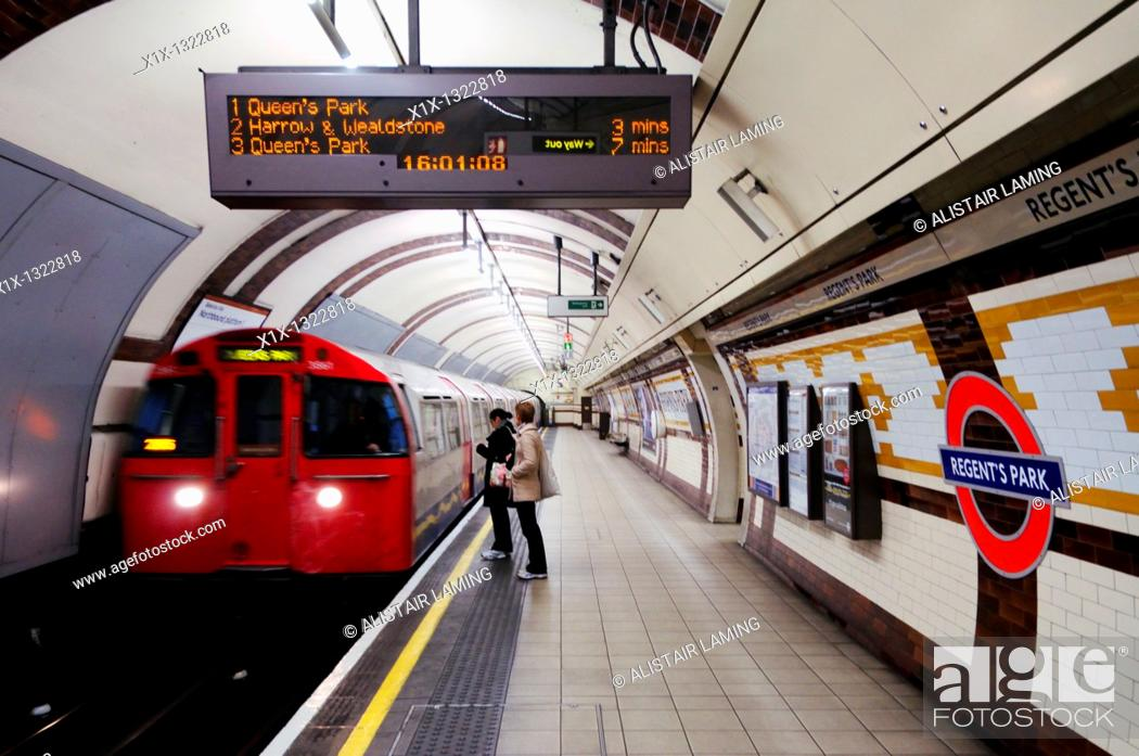 Stock Photo: Regents Park Underground Tube Station, London, England, UK.