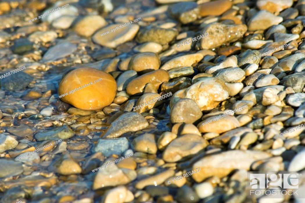 Stock Photo: Pebbles, close-up.