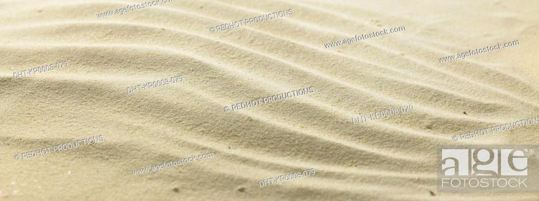 Stock Photo: Rippled sand.