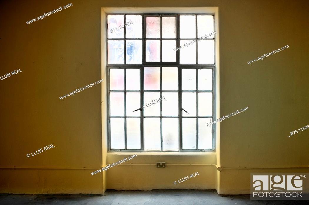 Stock Photo: empty building, window.