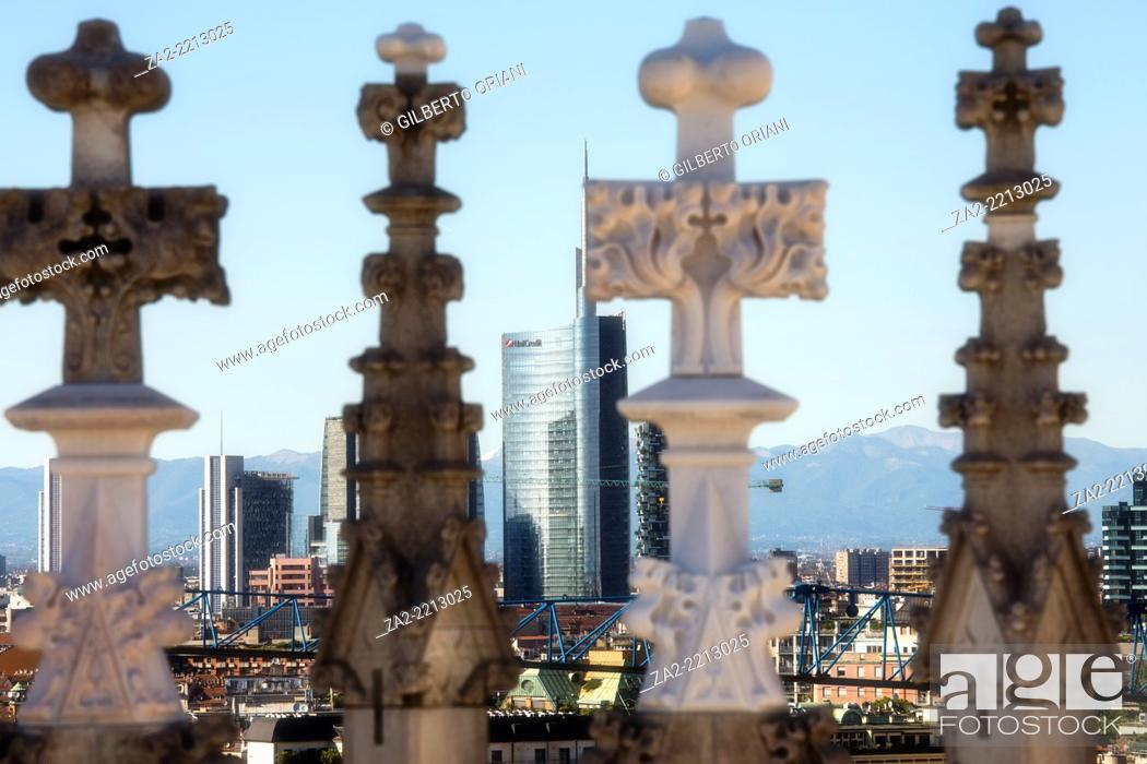 Photo de stock: View from Duomo, Milano, Lombardy, Italy.