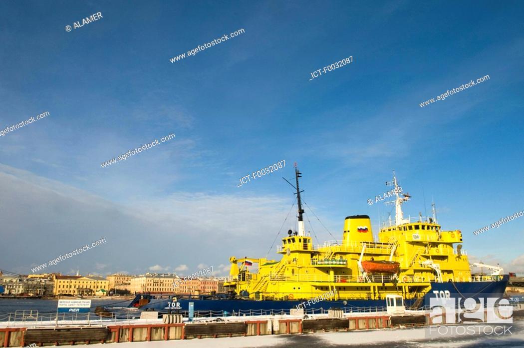 Stock Photo: Russia, St Petersburg, icebreaker on the Neva.