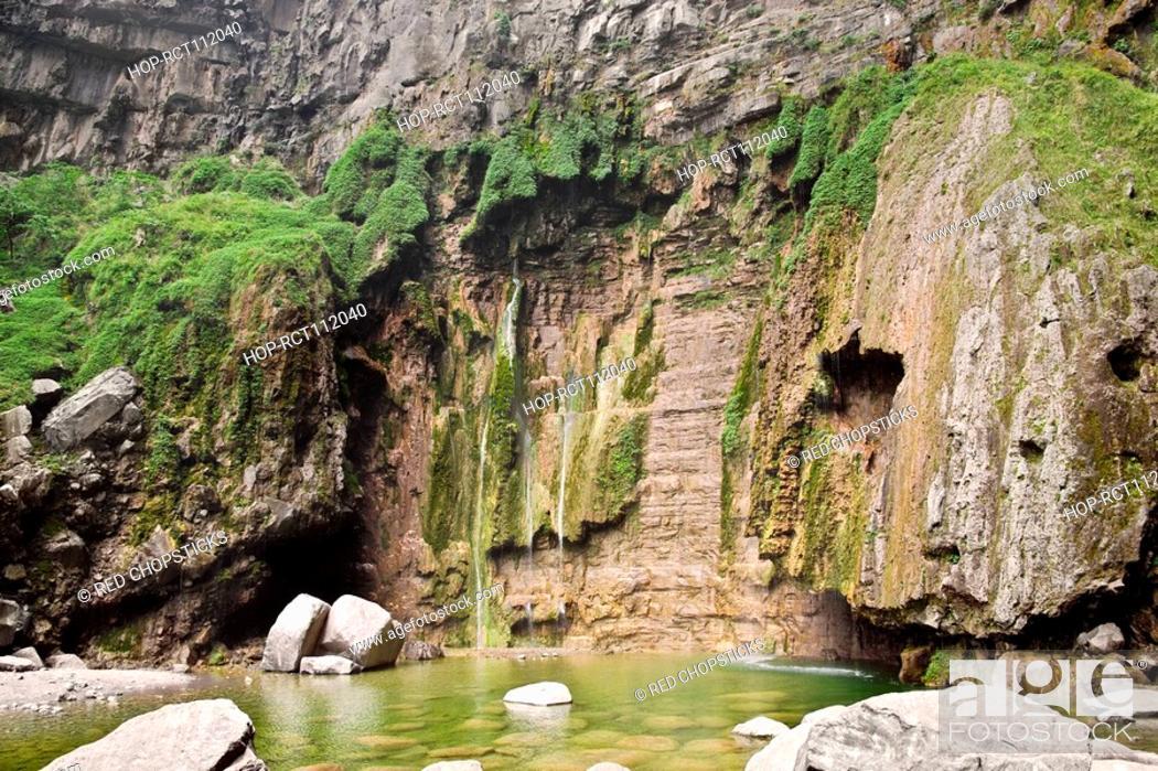 Stock Photo: Rocks in a stream, Mt Yuntai, Jiaozuo, Henan Province, China.