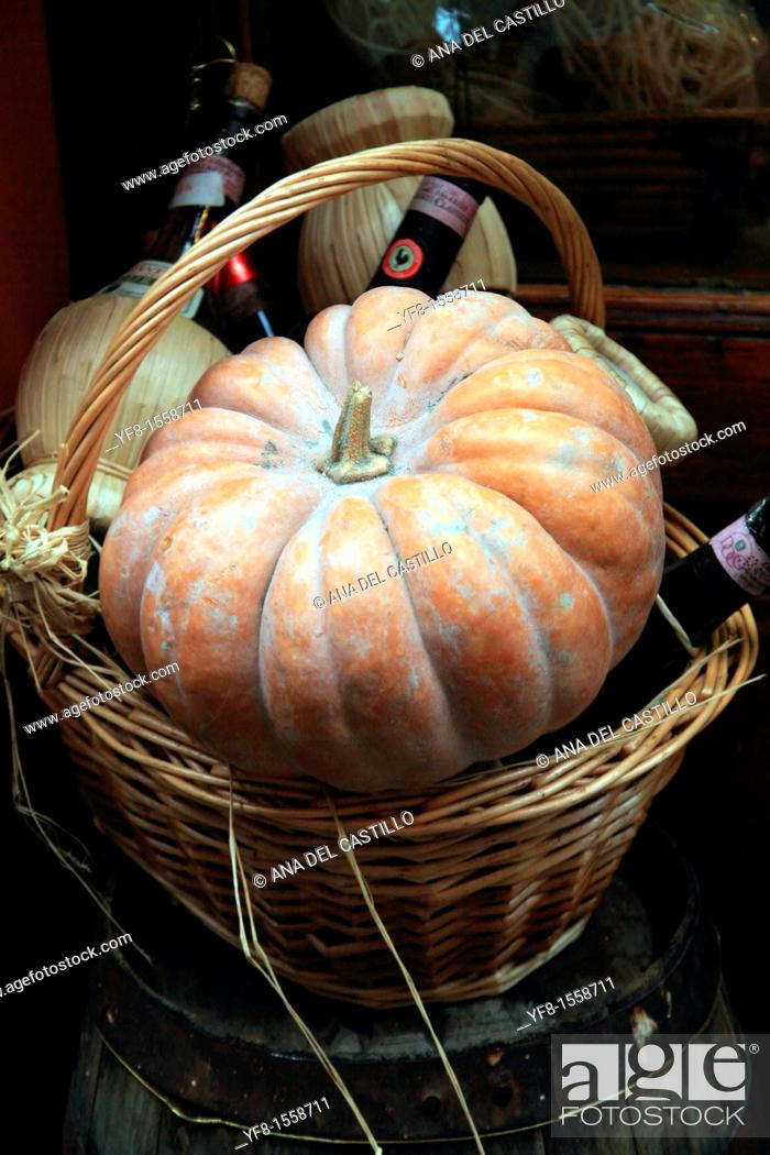 Stock Photo: Still life with pumpkin Siena Italy.