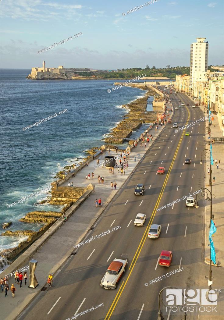 Stock Photo: The Malecon, Havana, Cuba.