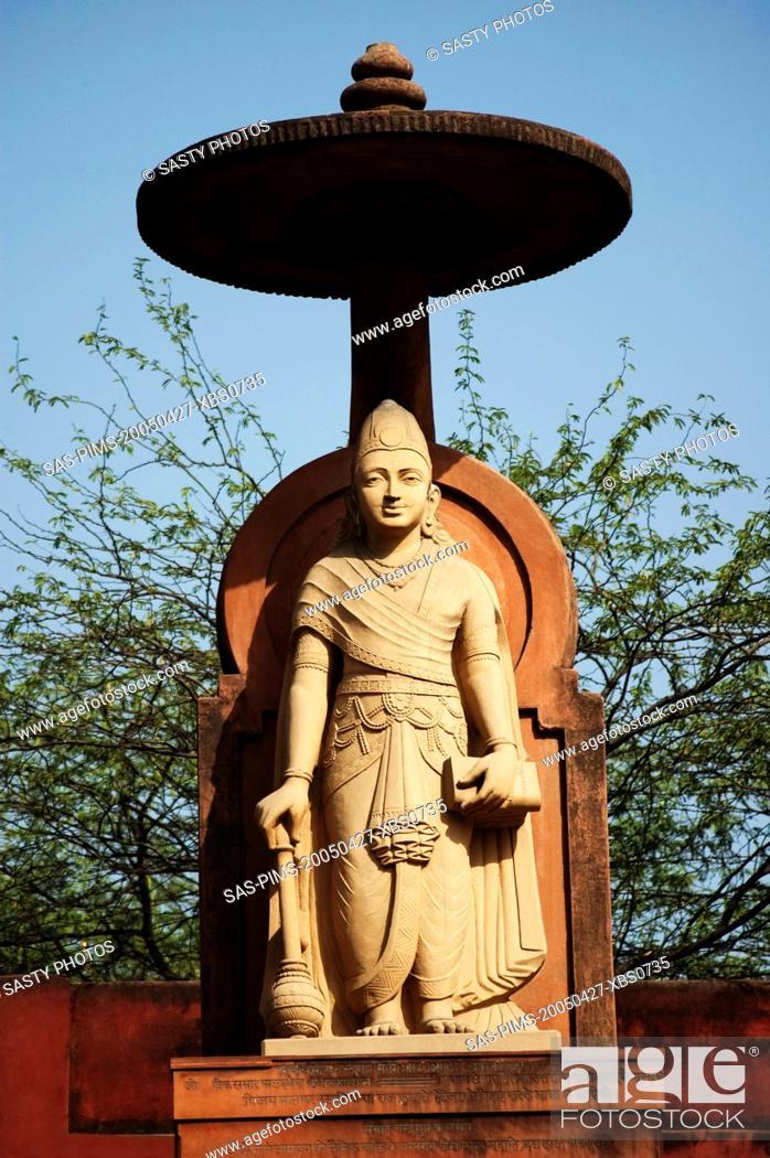 Stock Photo: Statue of lord Vishnu at a temple, Lakshmi Narayan Temple, New Delhi, India.