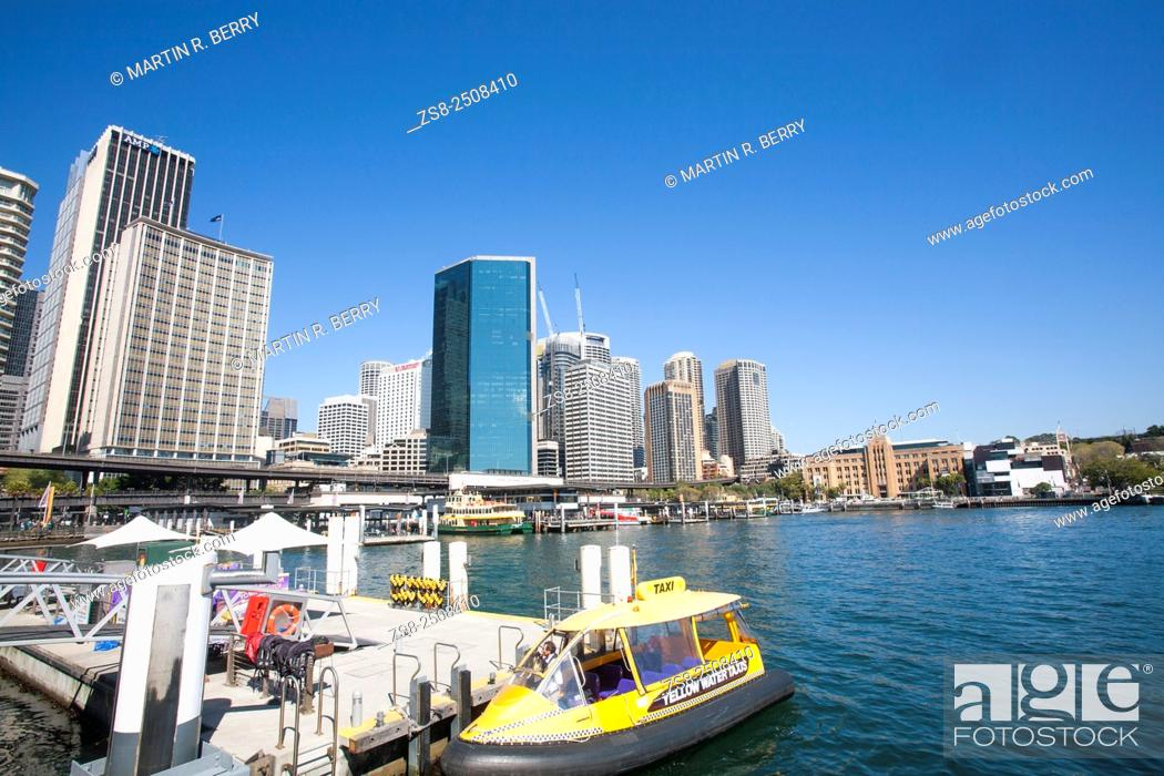 Stock Photo: Water Taxi at Sydney Circular Quay.