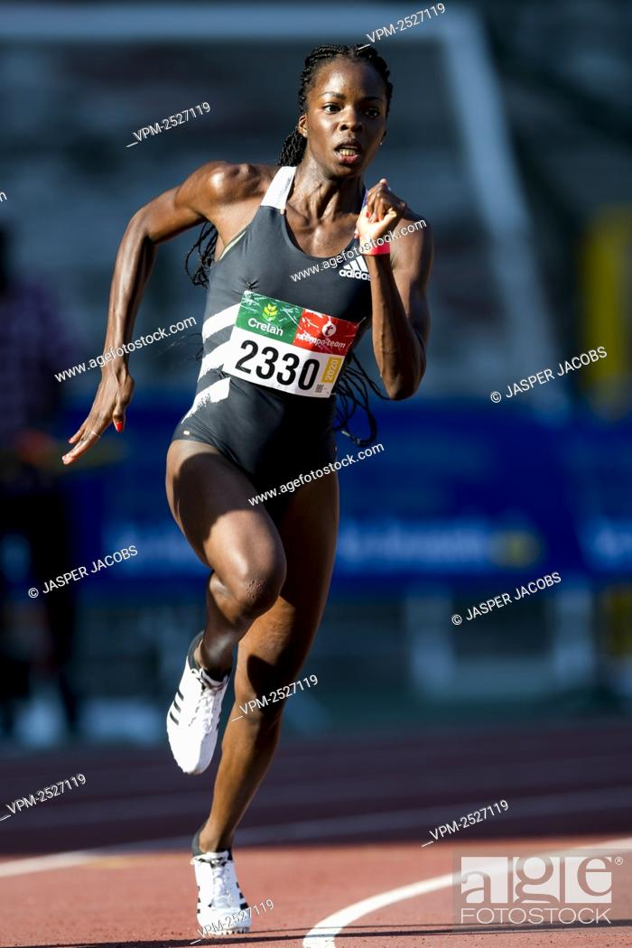 Imagen: Belgian Cynthia Bolingo Mbongo pictured in action during the women's 200m the 'Brussels Grand Prix' athletics meeting, in Brussels, Sunday 09 August 2020.