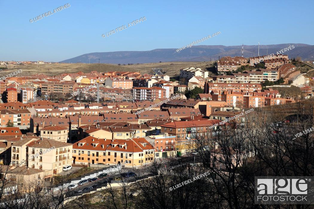 Stock Photo: Panoramic View of Segovia, Spain.