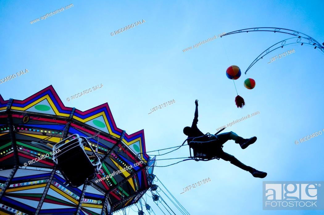 Stock Photo: Amusement Park, Chairoplane.