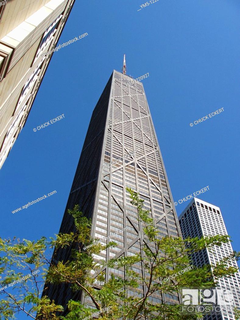 Stock Photo: John Hancock Building in Chicago, Illinois, USA.