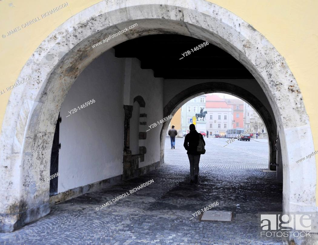 Stock Photo: Street tunnel, Regensburg, Germany.