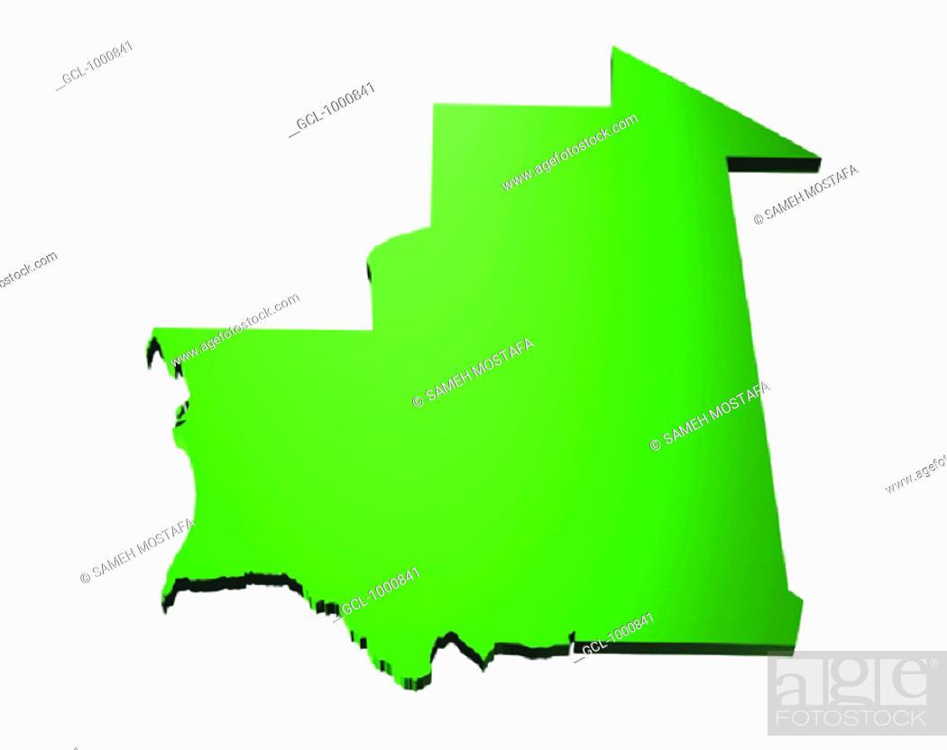 Stock Photo: map of Mauritania.