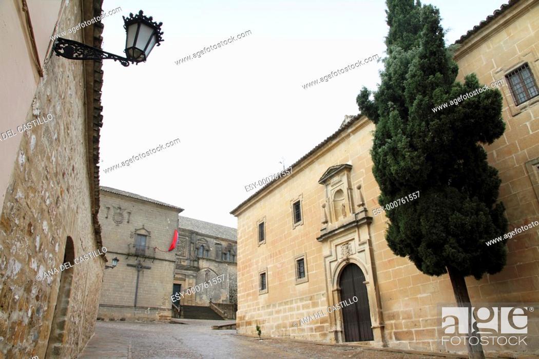 Stock Photo: Seminary of San Felipe Neri Baeza Jaen province Andalusia Spain.