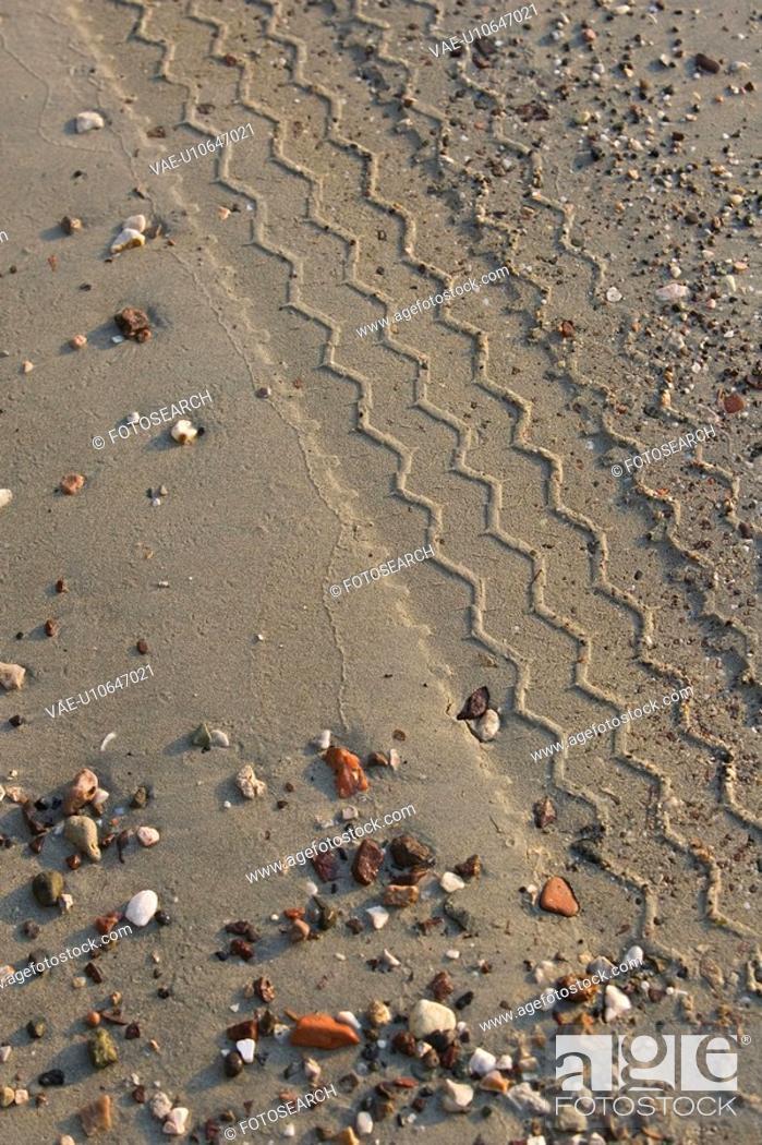 Stock Photo: Day, Dirt, Imprints, Mud.