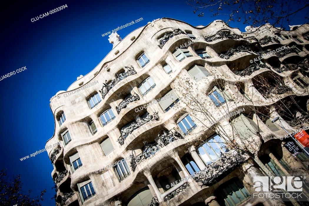 Stock Photo: Mila House, Barcelona, Catalonia, Spain, Europe.