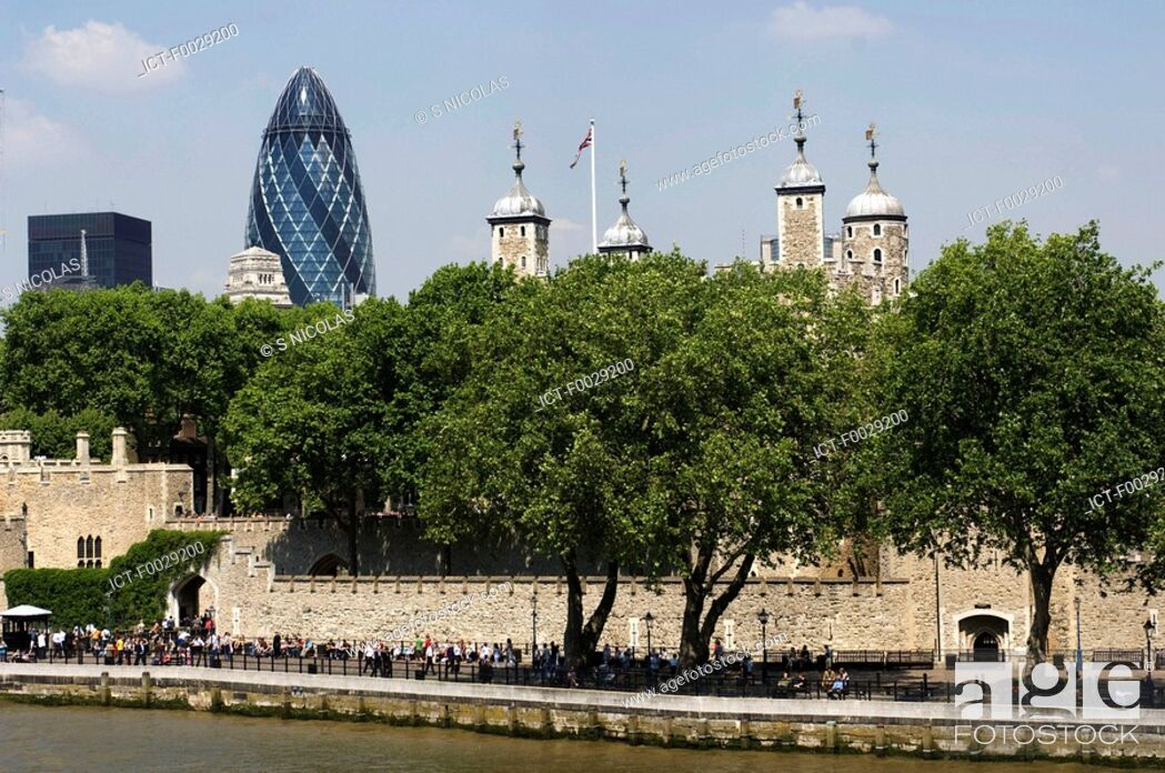 Stock Photo: England, London, Tower of London.