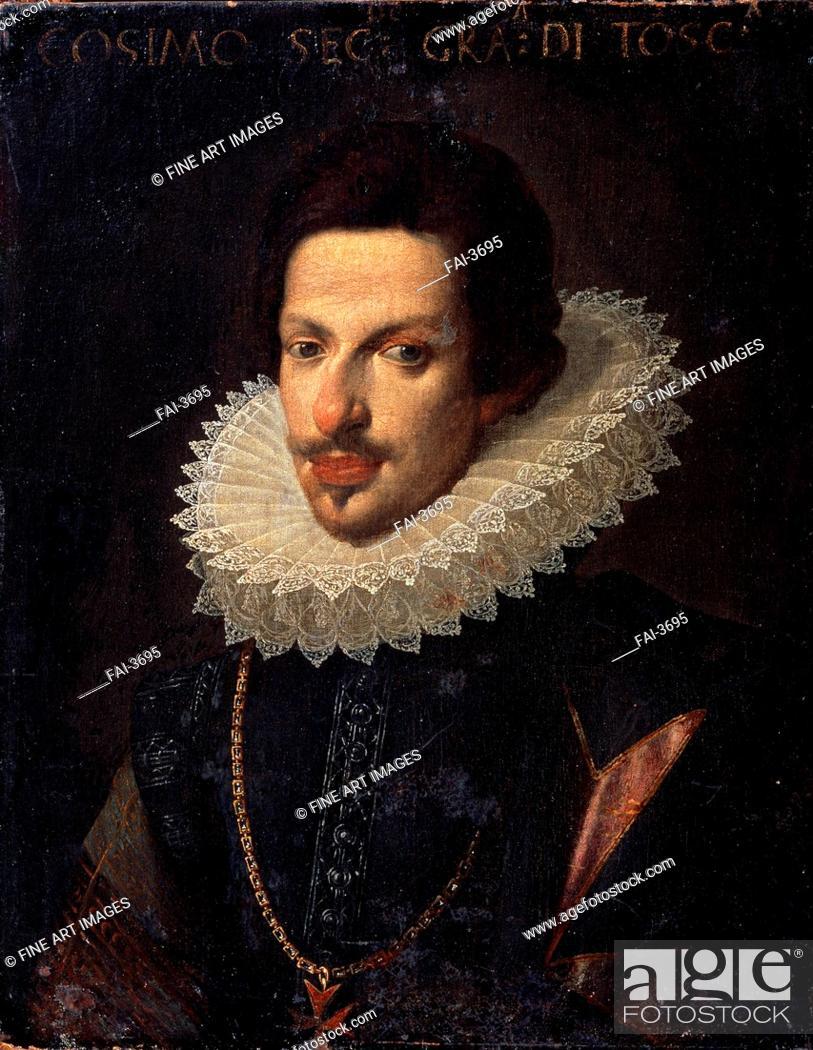 Stock Photo: Portrait of Grand Duke of Tuscany Cosimo II de' Medici (1590-1621). Sustermans, Justus (Giusto) (1597-1681). Oil on canvas.