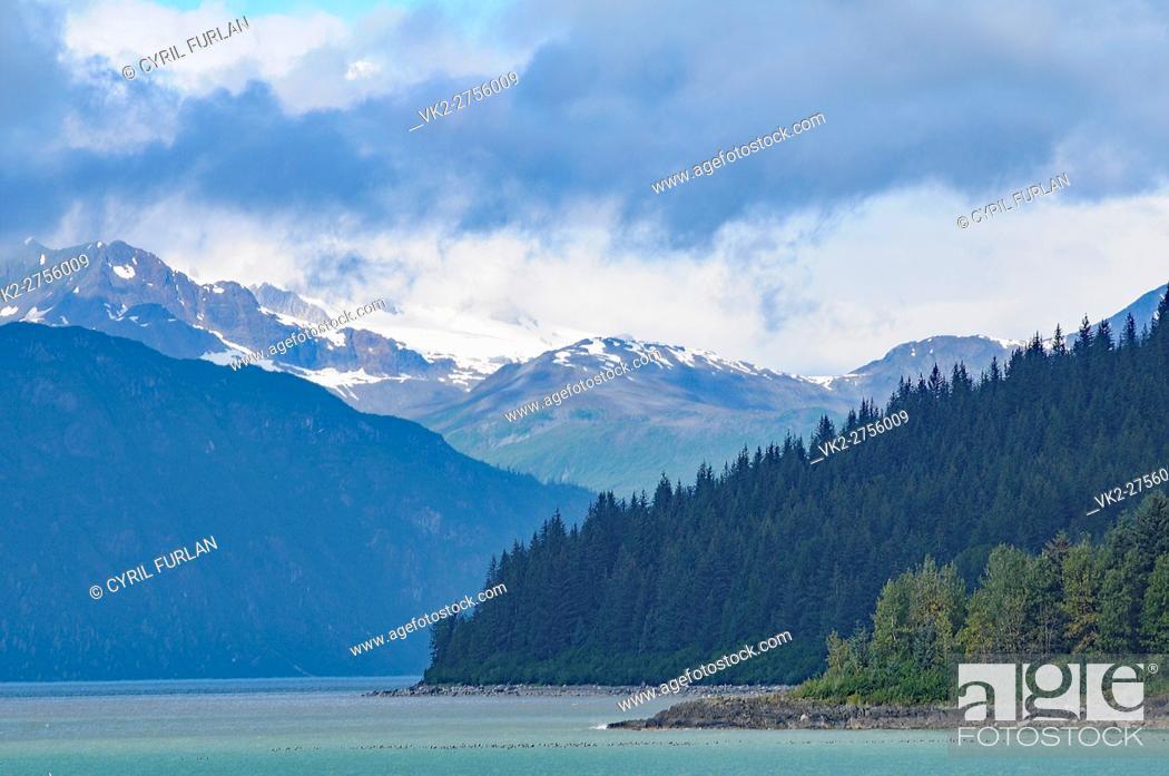 Stock Photo: Looking Down into Glacier Bay Alaska.