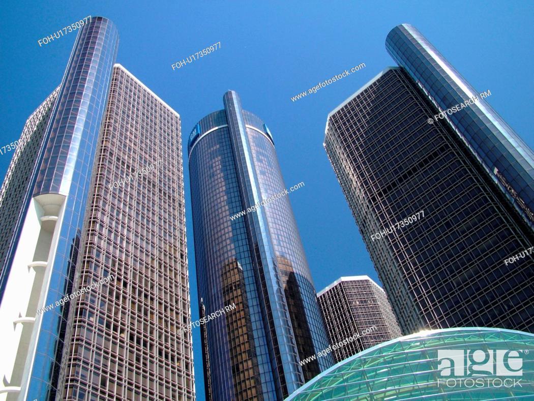 Detroit, MI, Michigan, Motor City, Downtown, skyline