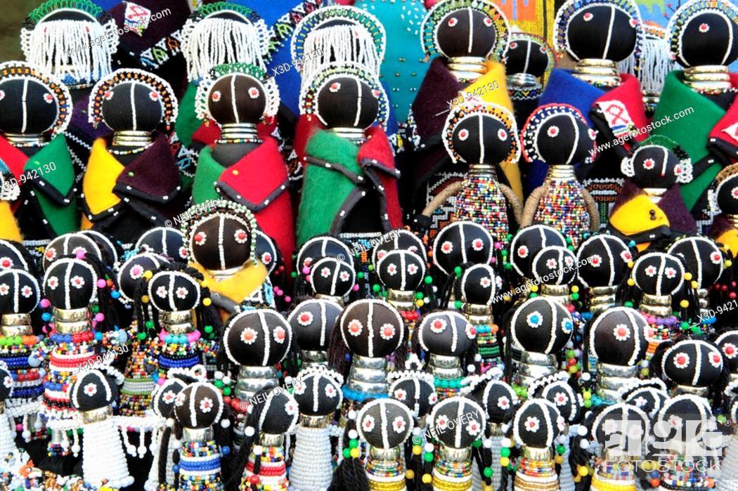 Stock Photo: Ndebele Dolls.