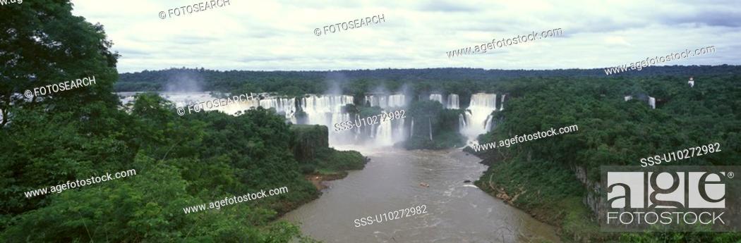 Stock Photo: Panoramic view of Waterfalls.