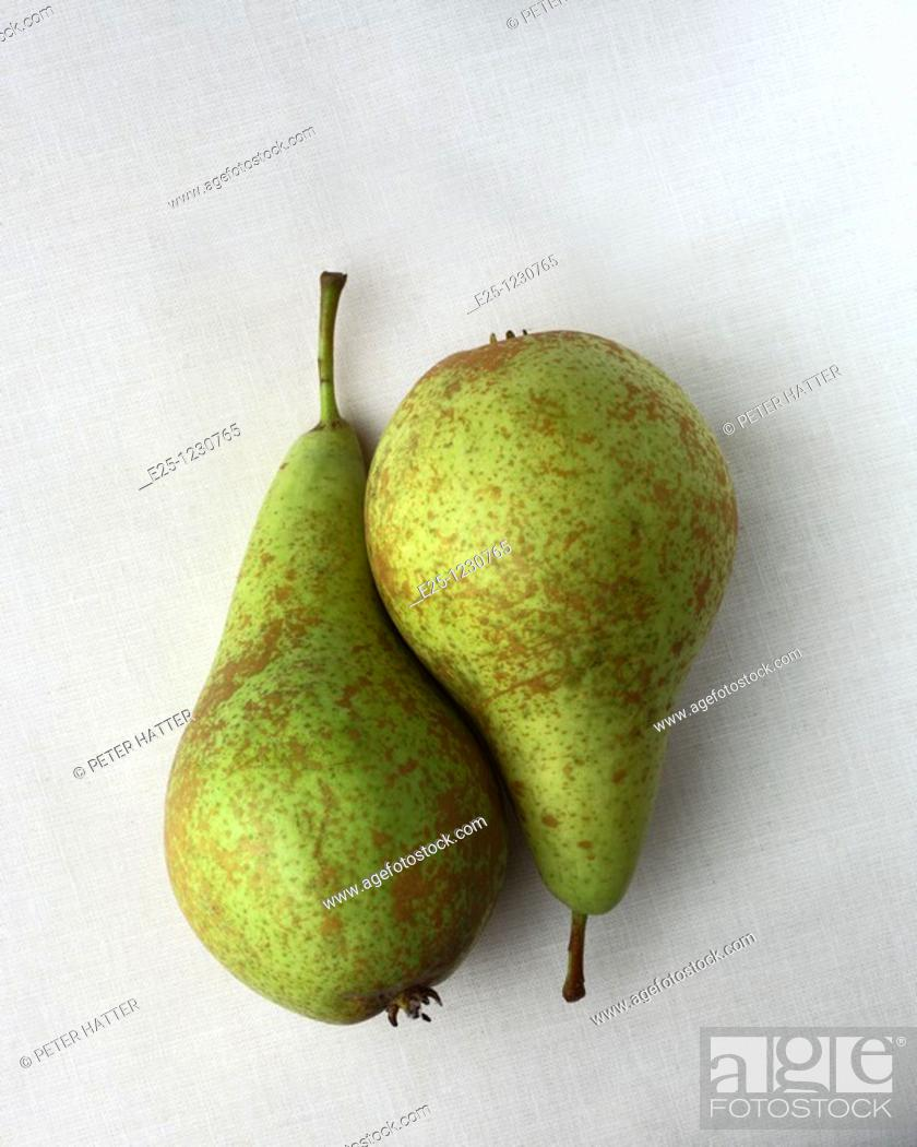 Stock Photo: Two pears arranged in a still life composition.