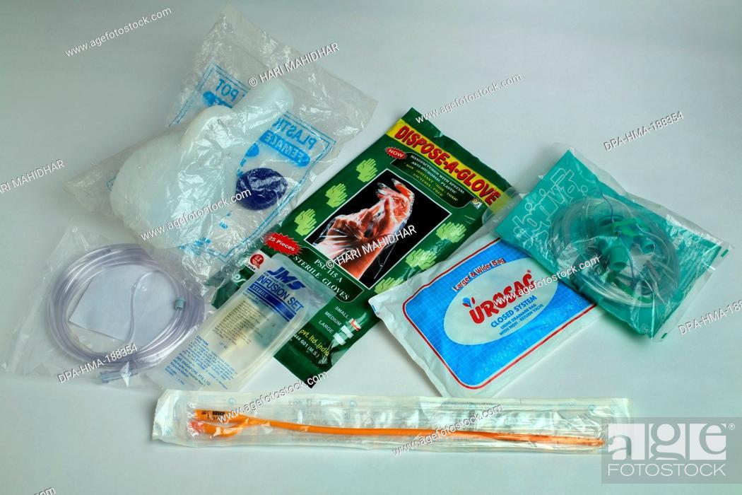 Stock Photo: PVC Medical Accessories India Asia.