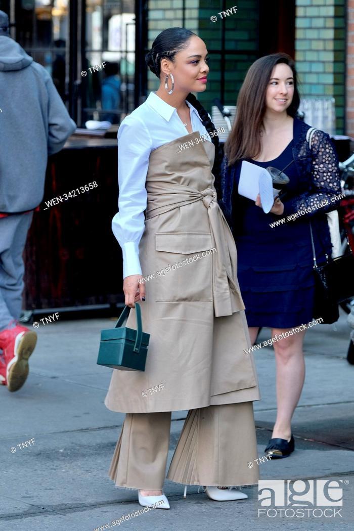 Stock Photo: Tessa Thompson leaving her hotel in New York Featuring: Tessa Thompson Where: Manhattan, New York, United States When: 10 May 2018 Credit: TNYF/WENN.