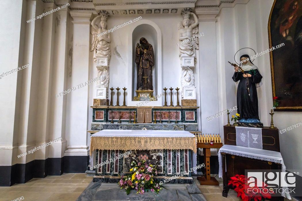 Stock Photo: Side altar of Church of Saint Philip Apostle (Chiesa di san Filippo Apostolo) on Ortygia island, historical part of Syracuse, Sicily Island, Italy.