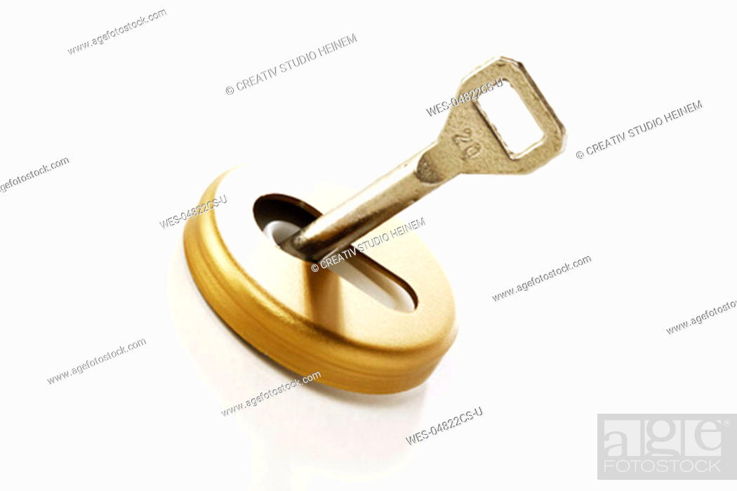 Photo de stock: Key in keyhole.