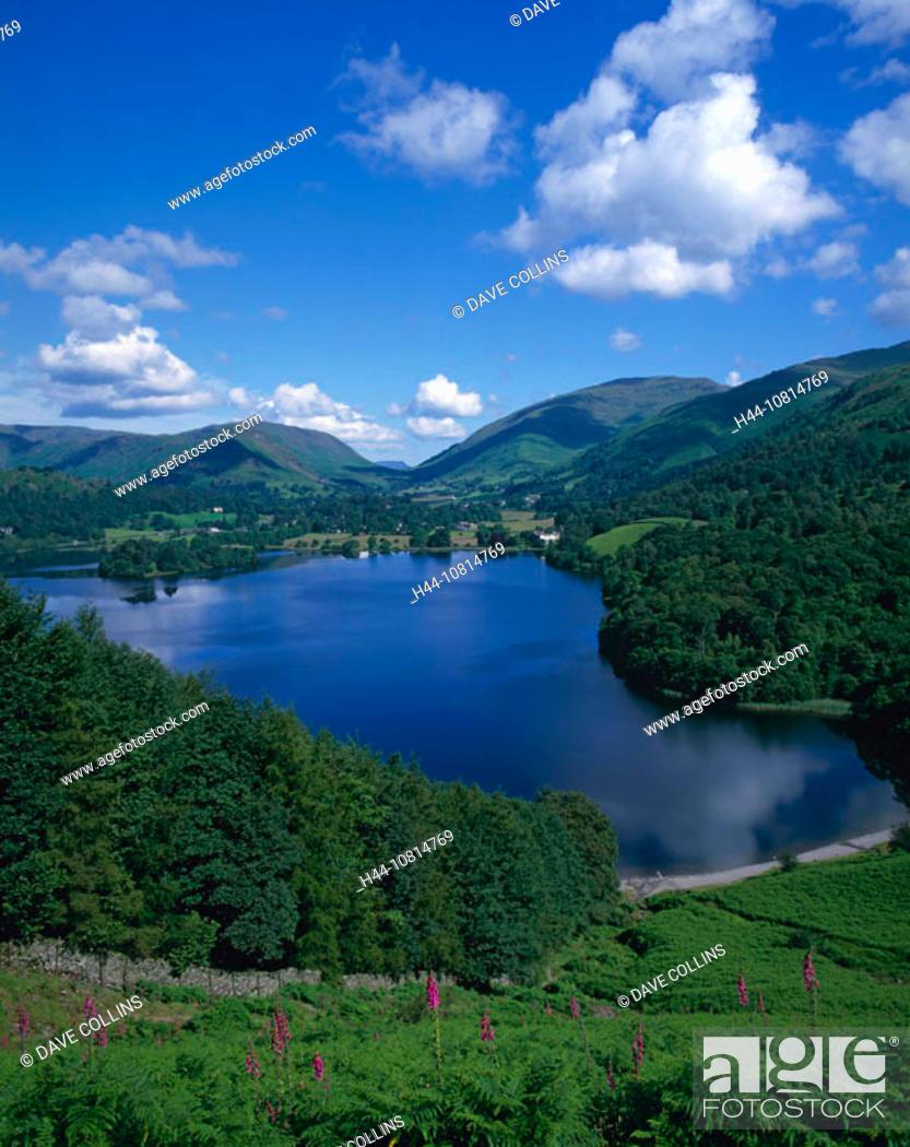 Stock Photo: Grasmere, Lake District, national park, Cumbria, England, Europe, Great Britain, landscape.