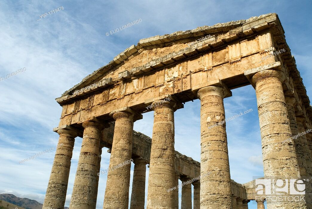 Stock Photo: Greek Temple, Segesta, Trapani District, Sicily, Italy.
