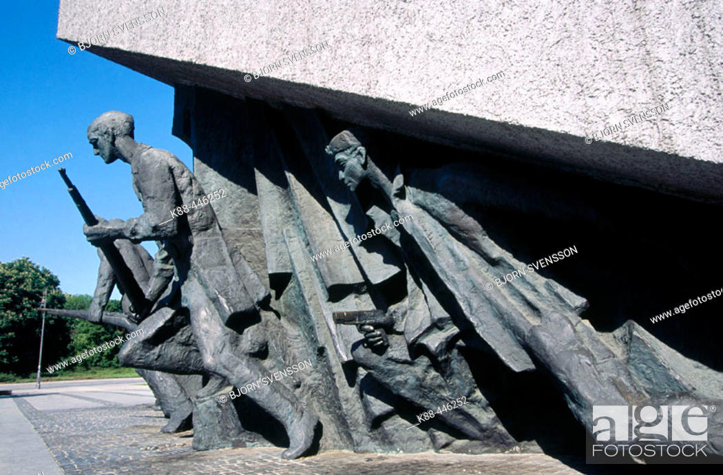Stock Photo: Memorial to the Heroes of the Warsaw uprising. Warsaw. Poland.