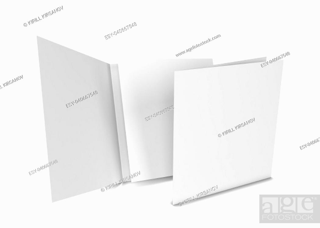 Stock Photo: Square brochure. 3d illustration isolated on white background.