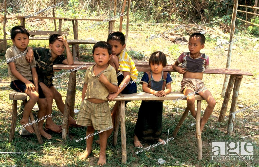 Stock Photo: Vietnam, a group of children.