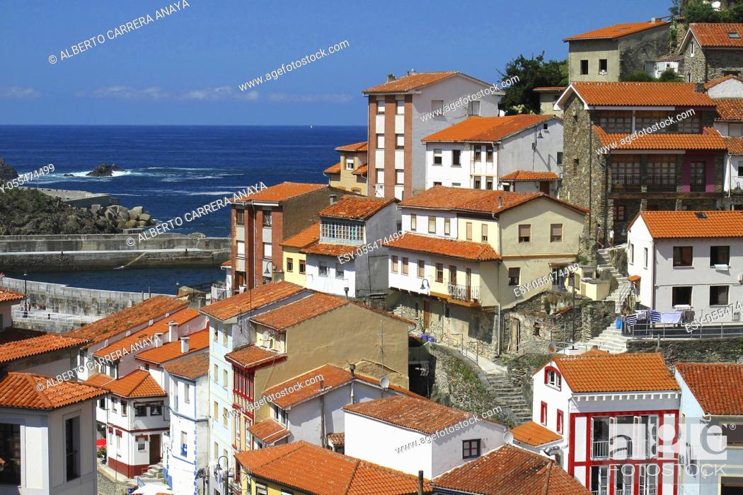 Stock Photo: Cudillero Fishing Town, Cudillero, Asturias, Spain, Europe.