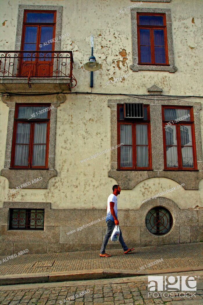 Stock Photo: street, Amarante, Portugal.